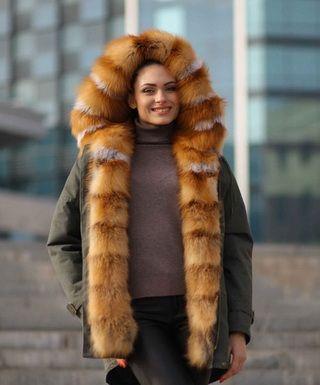 Меховые женские парки: лучшие фасоны