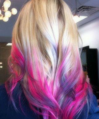 Красим кончики волос пастелью