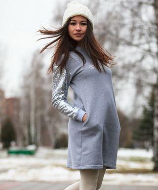 Стильные платья-свитшоты