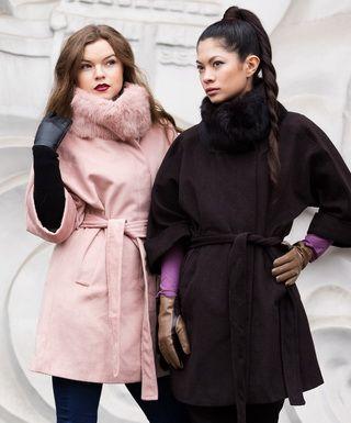 Женские пальто разных видов