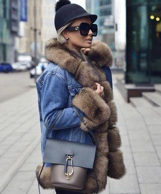 Джинсовые куртки с мехом: как выбрать и с чем носить