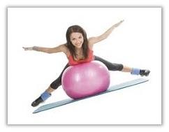 Гимнастика с мячом для похудения