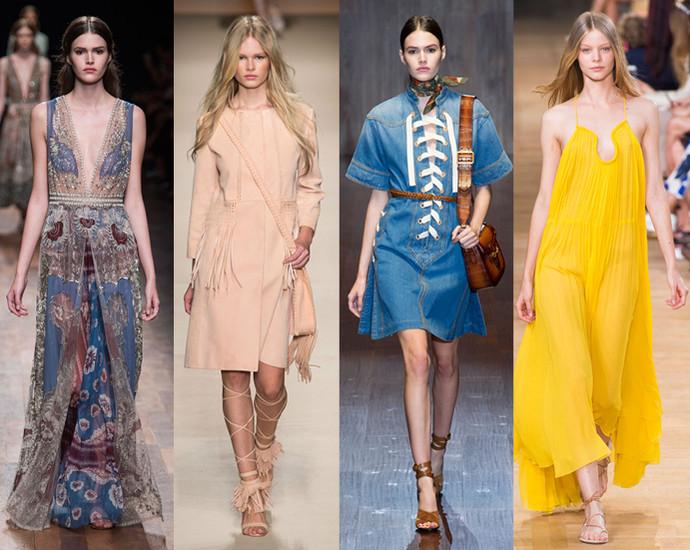 c978fe8ee234c89 Весенние тренды вдохновлены эстетикой 1970-х, и потому на вершине  популярности в этом сезоне женственные платья. Романтичное маки,  аристократичная замша, ...